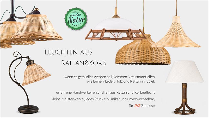 Korb & Rattan Wandleuchten