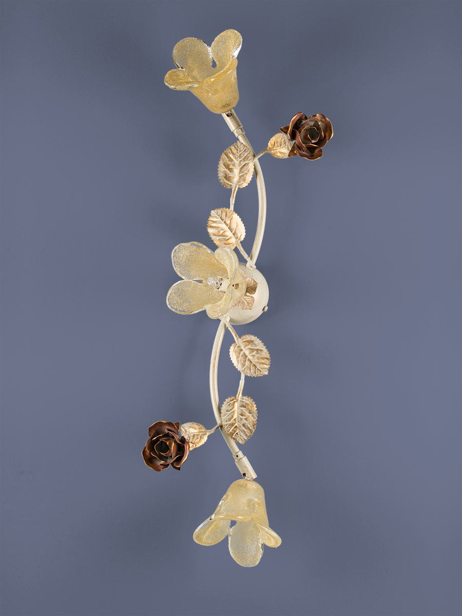 Deckenleuchte 103141 Florentiner-Stil antik-weiss | Serie 3.14 ''La Rosa''