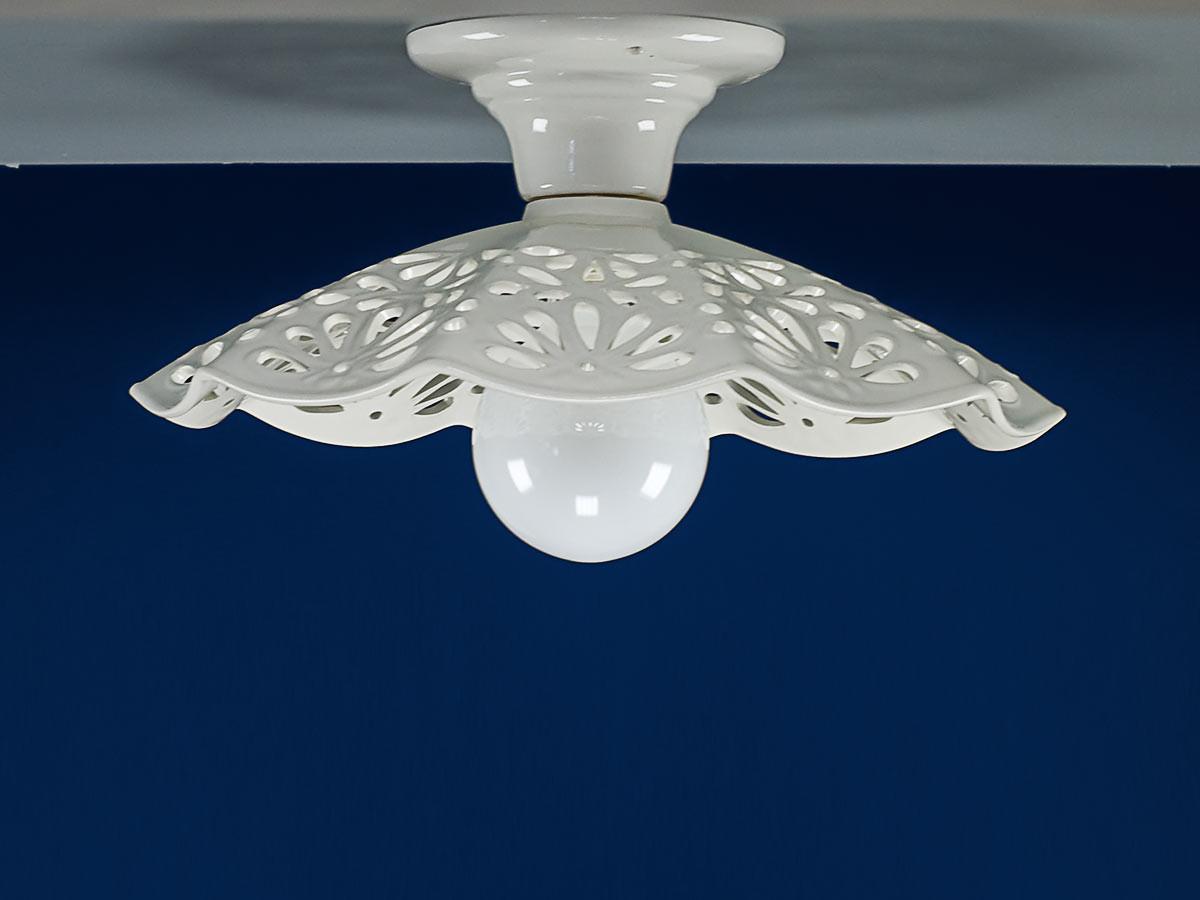 Deckenleuchte 107101 Keramik weiss Serie 7.10 ''Plauen''