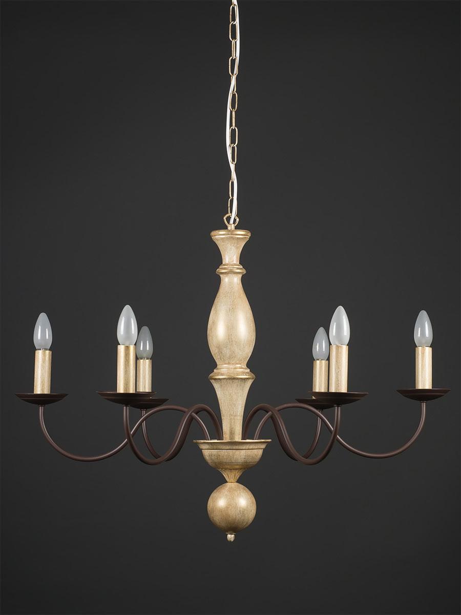 Pendelleuchte 203682 Landhaus antik-gold   Serie 3.68 ''Castello''