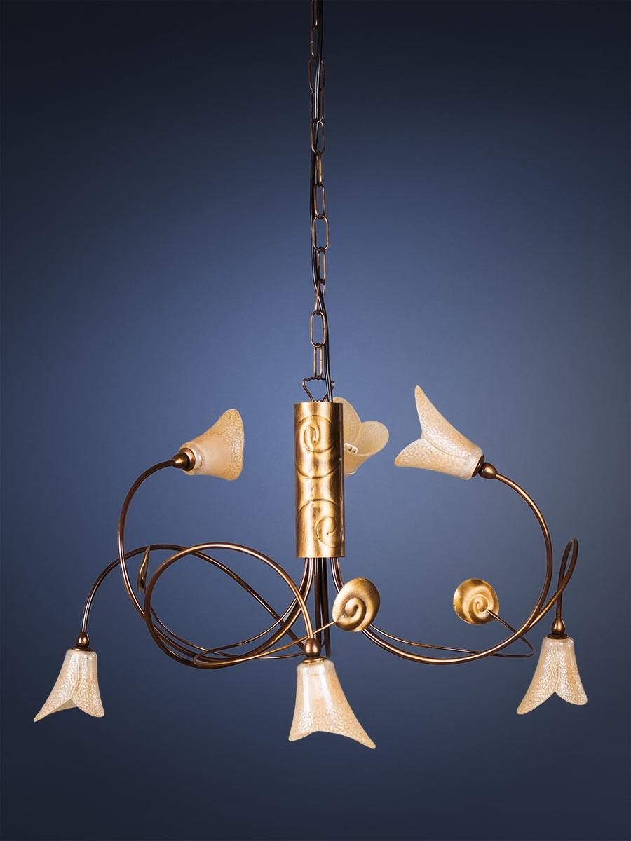 Pendelleuchte 203703 Florentiner antik-gold   Serie 3.70 ''Vineta''