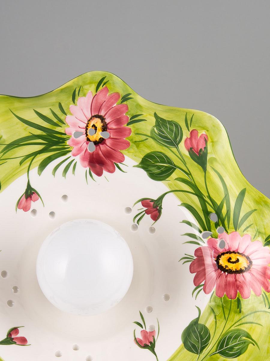 schwungvolle handgefertigte pendelleuchte aus keramik. Black Bedroom Furniture Sets. Home Design Ideas