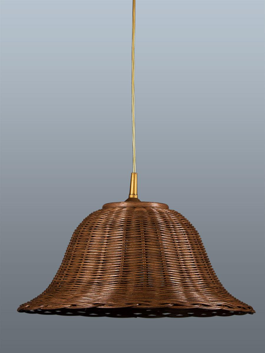 Pendelleuchte 212057 Korbgeflecht nussbaum-farbig Serie 2.05 ''Lichtenfels''