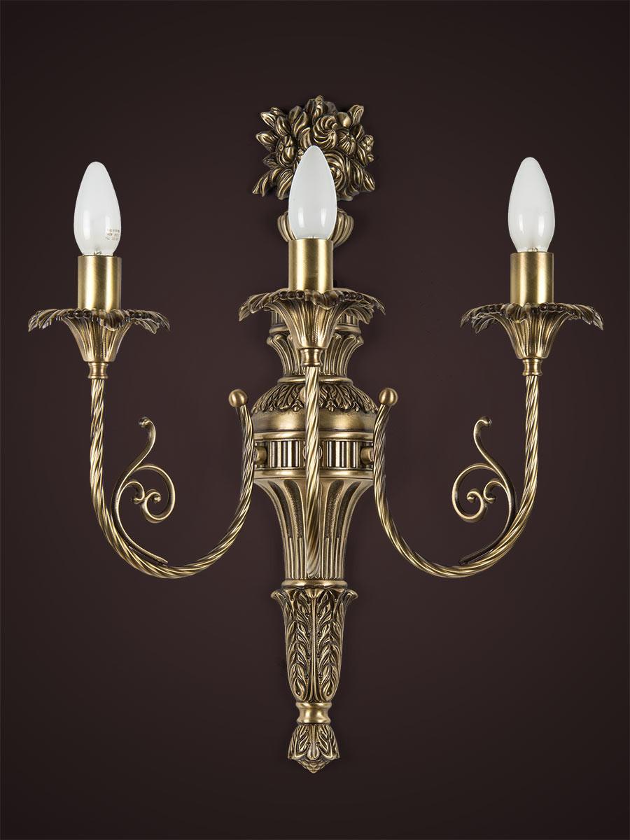 Wandlampe 303035 echtes Messing Jugendstil | Serie 3.03 ''Scarlett''