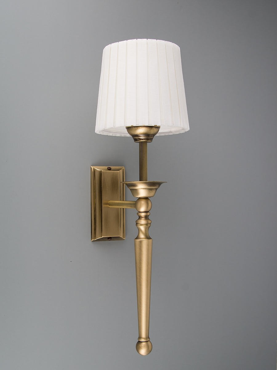 303793 wandfackel jugendstil echtes messing helios leuchten. Black Bedroom Furniture Sets. Home Design Ideas