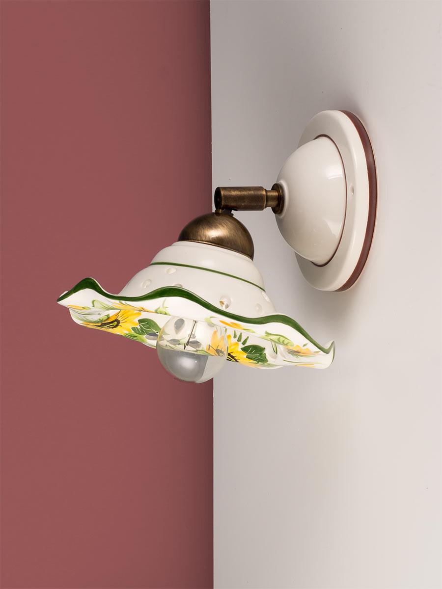 Wandleuchte 307172 Keramik weiss Sonnenblume Serie 7.17 ''Spot Ceramica''