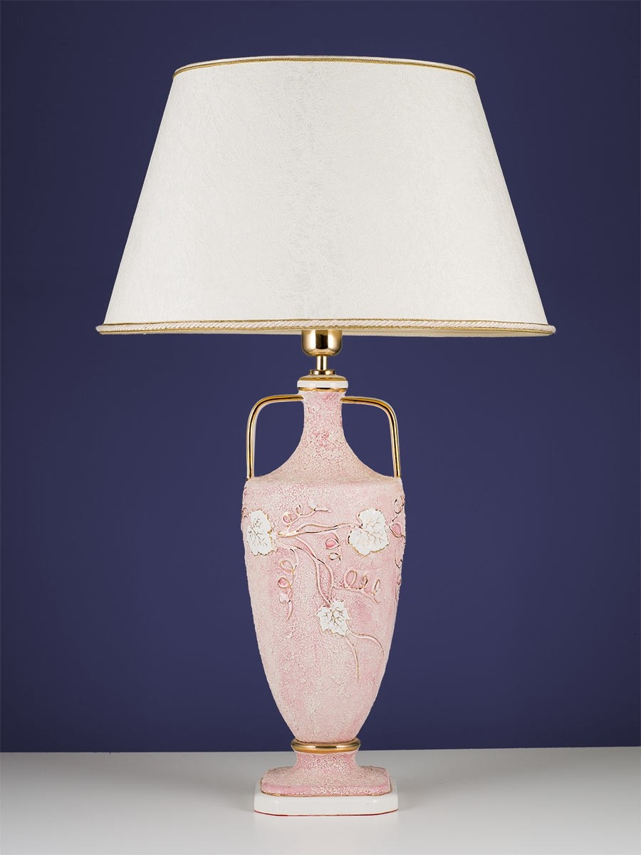 edle Tischleuchte 364523 rosa, Keramik handarbeit