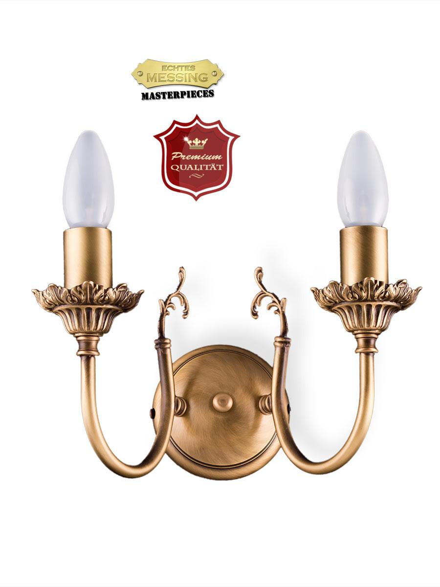 393132 wandlampe echt messing antik i top qualit t i. Black Bedroom Furniture Sets. Home Design Ideas