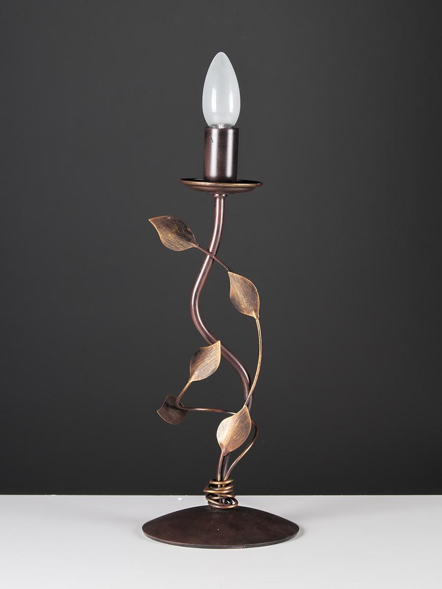 Tischleuchte 403555 Florentiner braun-gold Serie 3.55 ''Lebensbaum''