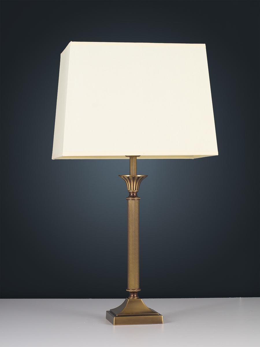 403776 6 tischlampe echt messing antik i top qualit t i helios leuchten. Black Bedroom Furniture Sets. Home Design Ideas