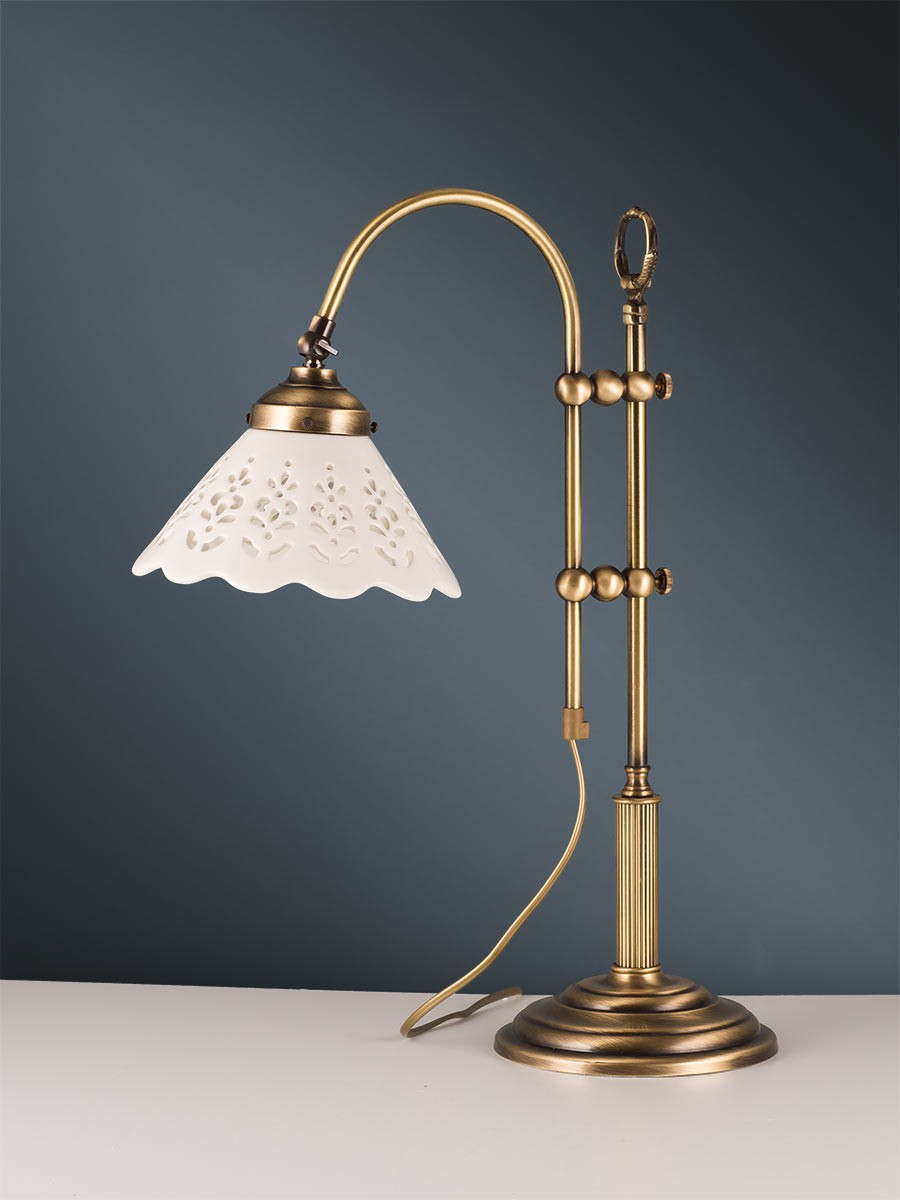 tischlampe 407036 messing keramik landhausstil helios leuchten. Black Bedroom Furniture Sets. Home Design Ideas