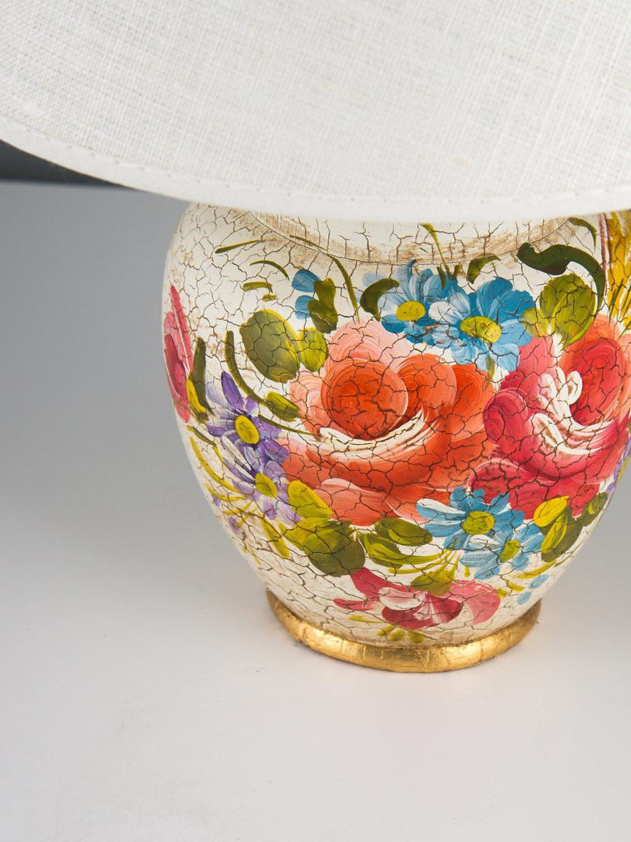 477015 tischlampe keramik dekor bunt handbemalt helios leuchten - Keramik tischleuchte ...