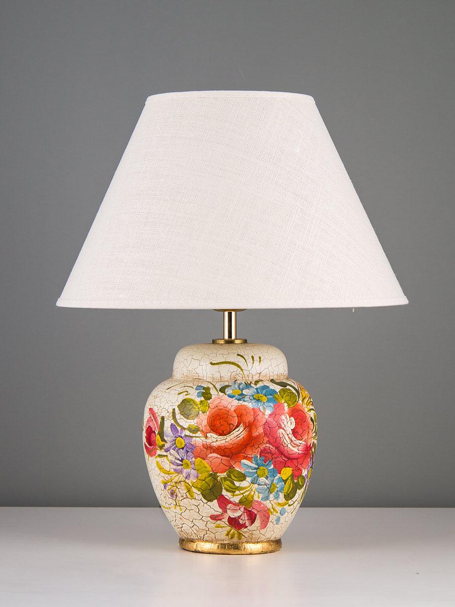 Tischleuchte 477015 Keramik handbemalt Serie 7.01 ''Sommertraum''