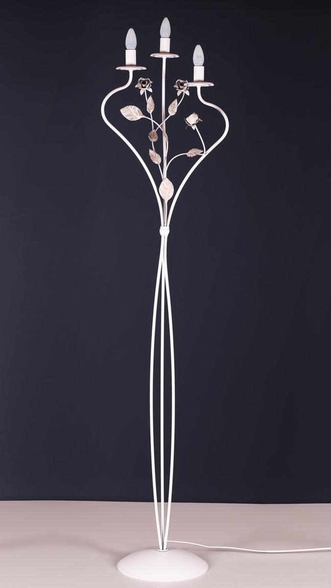 Stehleuchte 503149 Florentiner-Stil weiss | Serie 3.14 ''Santorin''