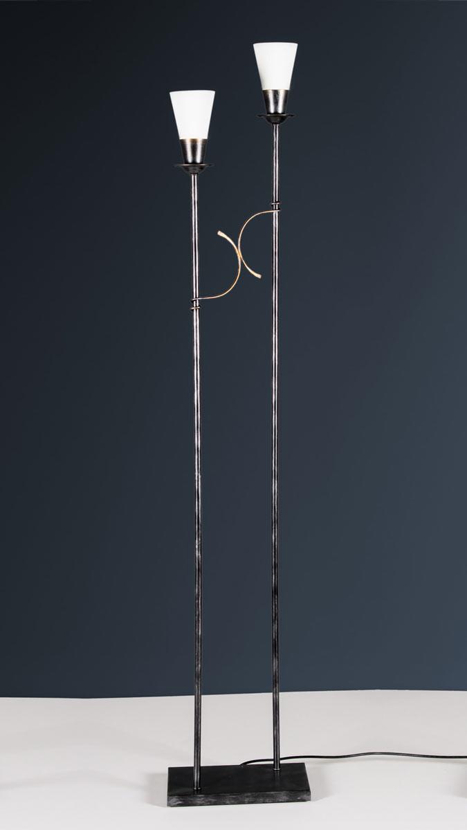 Stehleuchte 503635 Landhaus schwarz-gold | Serie 3.63 ''Arminius''