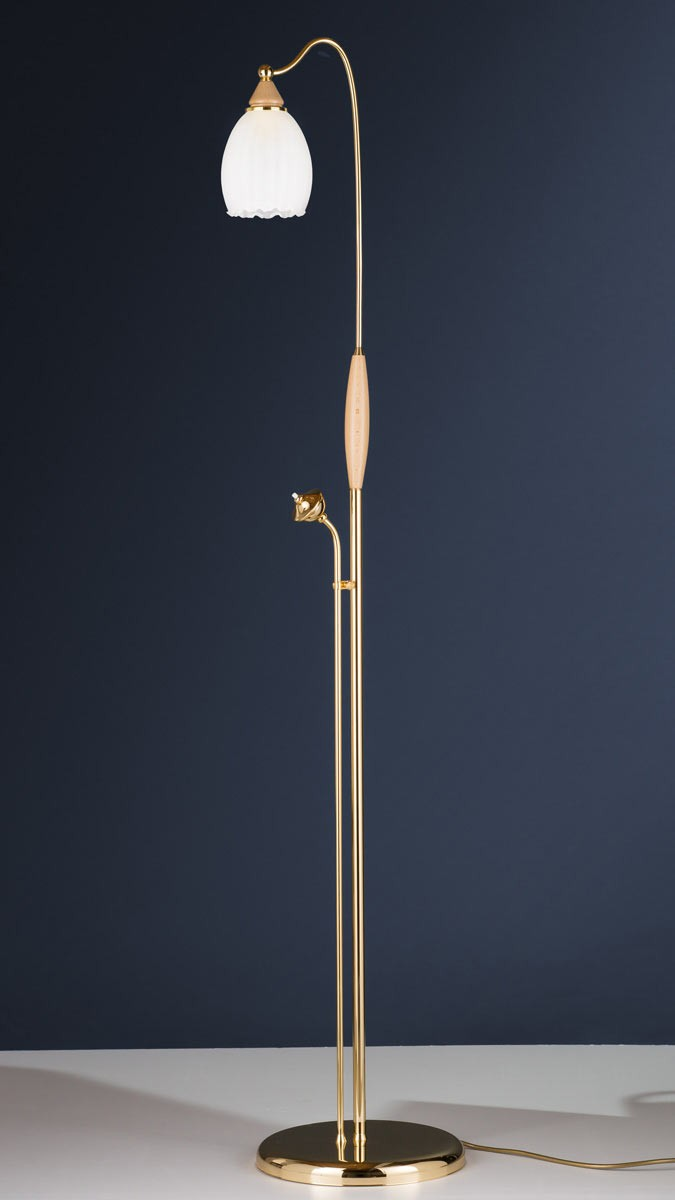 Stehleuchte 584387/ES, Messing 24k vergoldet, Serie 4.38 ''Corina''