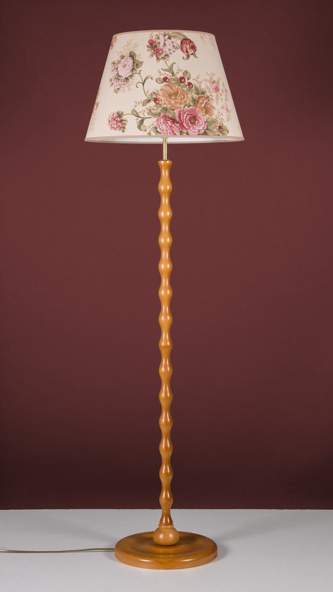 Stehleuchte 598053-EH Holz Honig & Stoffschirm Serie 8.05 ''Woody''