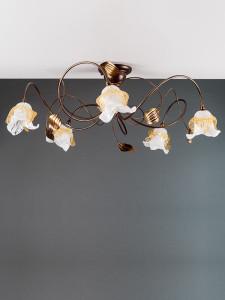 Deckenleuchte 103692/1 Florentiner braun-gold | Serie 3.69 ''Magnolia''