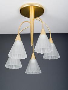 Deckenleuchte 104062 modern, Messing matt, Serie 4.06 ''Susanna''