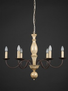 Pendelleuchte 203682 Landhaus antik-gold | Serie 3.68 ''Castello''