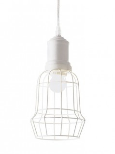 Pendelleuchte Cage SP1 Square Bianco | weiss lackiert