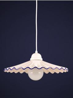 Pendelleuchte 277114  Keramik weiss-blau Serie 7.11 ''Onion''
