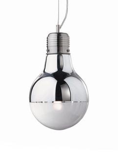 Pendelleuchte Luce Cromo SP1 small | verchromt | Glas chrom-weiss