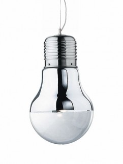Pendelleuchte Luce Cromo SP1 big | verchromt | Glas chrom-weiss