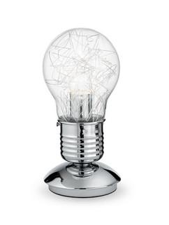 Tischleuchte Luce Max TL1 | verchromt | Glas transparent