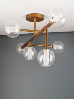 104051 Retro Deckenlampe 6 - flammig broncefarbig