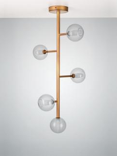 104053 Retro Deckenlampe 5 - flammig broncefarbig
