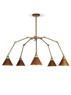 204071 5-flammige Deckenlampe Industrie-Design