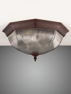 106198 klassische Deckenlampe rostbraun