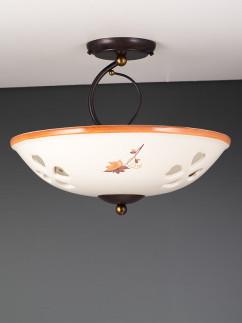 Deckenleuchte 107081 antik-braun | Keramik beige-braun | Serie 7.08 ''Annette''
