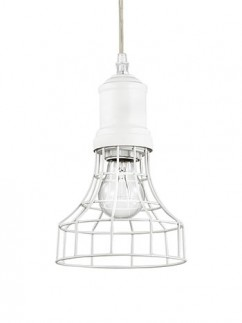 Pendelleuchte Cage SP1 Plate Bianco | weiss lackiert