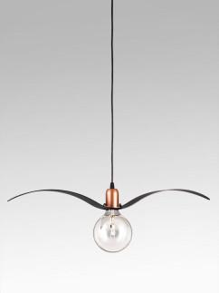 201133 Pendelampe Möwe im Retro-Design schwarz