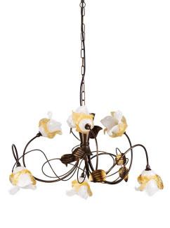 Pendelleuchte 203693/1 Florentiner braun-gold | Serie 3.69 ''Magnolia''