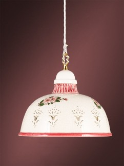 Pendelleuchte 2070711 Keramik weiss rot Serie 7.07 ''Luce Ceramica''