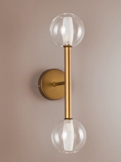 304054 Retro Wandlampe 2 - flammig broncefarbig
