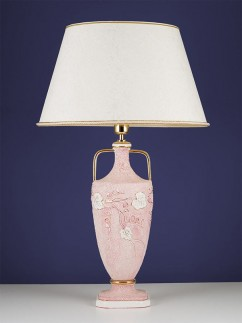 Tischleuchte 364523 Keramik rosa, Serie 4.52 ''Piera''