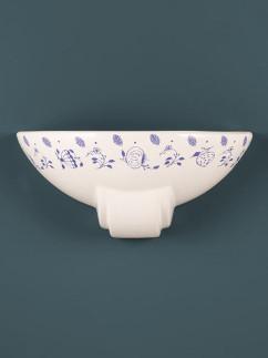 Wandleuchte 377119 Keramik weiss-blau Serie 7.11 ''Onion''