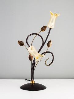 Tischleuchte 403666 Florentiner braun-gold | Serie 3.66 ''Amelie''