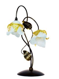 Tischleuchte 403695/1 Florentiner braun-gold | Serie 3.69 ''Magnolia''