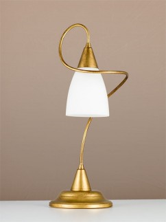 404264/1 1-flammig Tischleuchte antik-gold Landhausstil