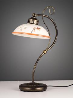 Tischleuchte 407086 antik-braun | Keramik beige-braun | Serie 7.08 ''Annette''