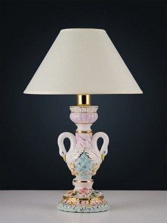 Tischleuchte 464533 Keramik handbemalt Serie 4.53 ''Cigno''