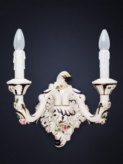 Wandleuchte 464556 Keramik handbemalt Serie 4.55 ''Sabrina''