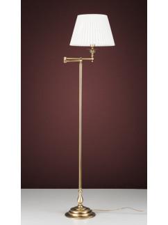 Stehleuchte Bridgelampe 503774-1 echt Messing antik | Schirm Plissee weiss | Serie 3.77 ''London''
