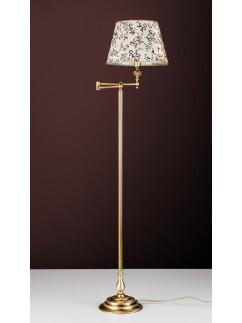 Stehleuchte Bridgelampe 503774-2 echt Messing antik | Schirm silber-farbig | Serie 3.77 ''London''