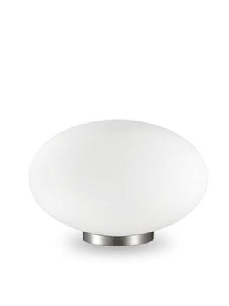 Tischleuchte Candy TL1 D25 Nickel matt | Glas weiss